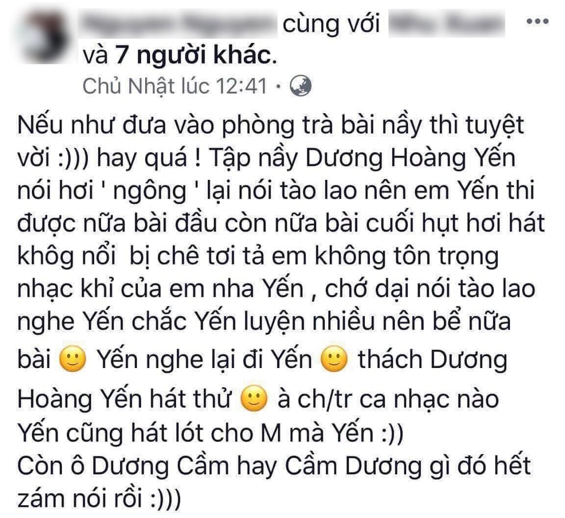 Dương Hoàng Yến tức giận