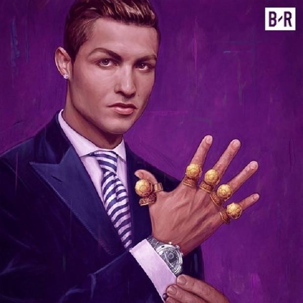 Ảnh chế: Ronaldo một tay bế Quả bóng vàng, một tay ẵm... Messi - Ảnh 3.