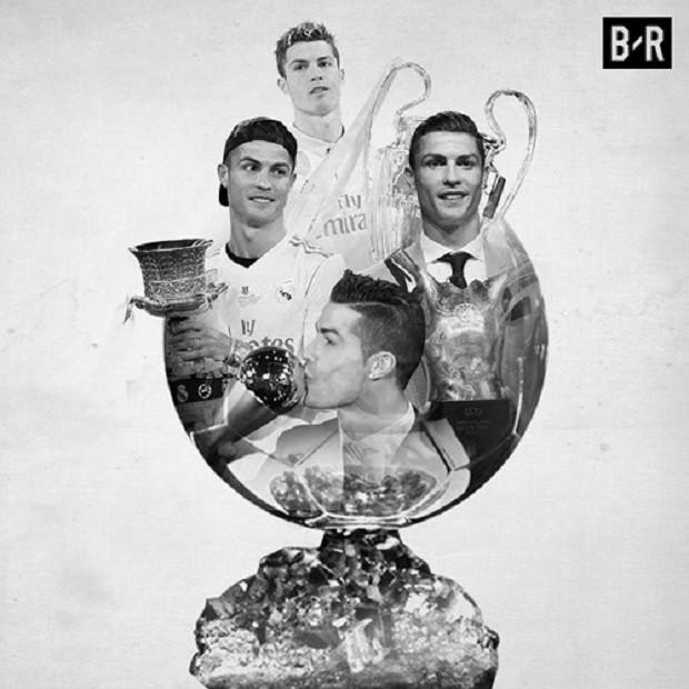 Ảnh chế: Ronaldo một tay bế Quả bóng vàng, một tay ẵm... Messi - Ảnh 6.