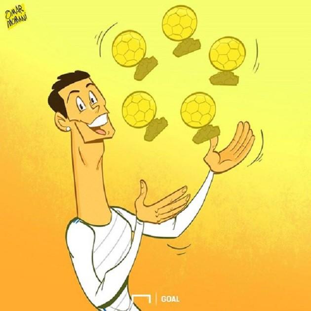 Ảnh chế: Ronaldo một tay bế Quả bóng vàng, một tay ẵm... Messi - Ảnh 4.