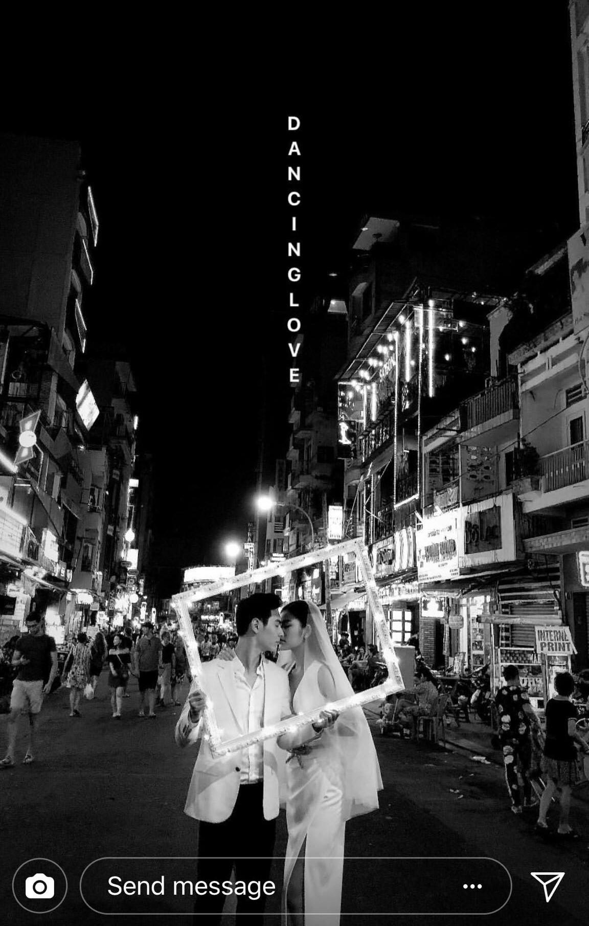 Chúng Huyền Thanh mặc đầm lộng lẫy, rạng rỡ đi chụp ảnh cưới với bạn trai - Ảnh 3.