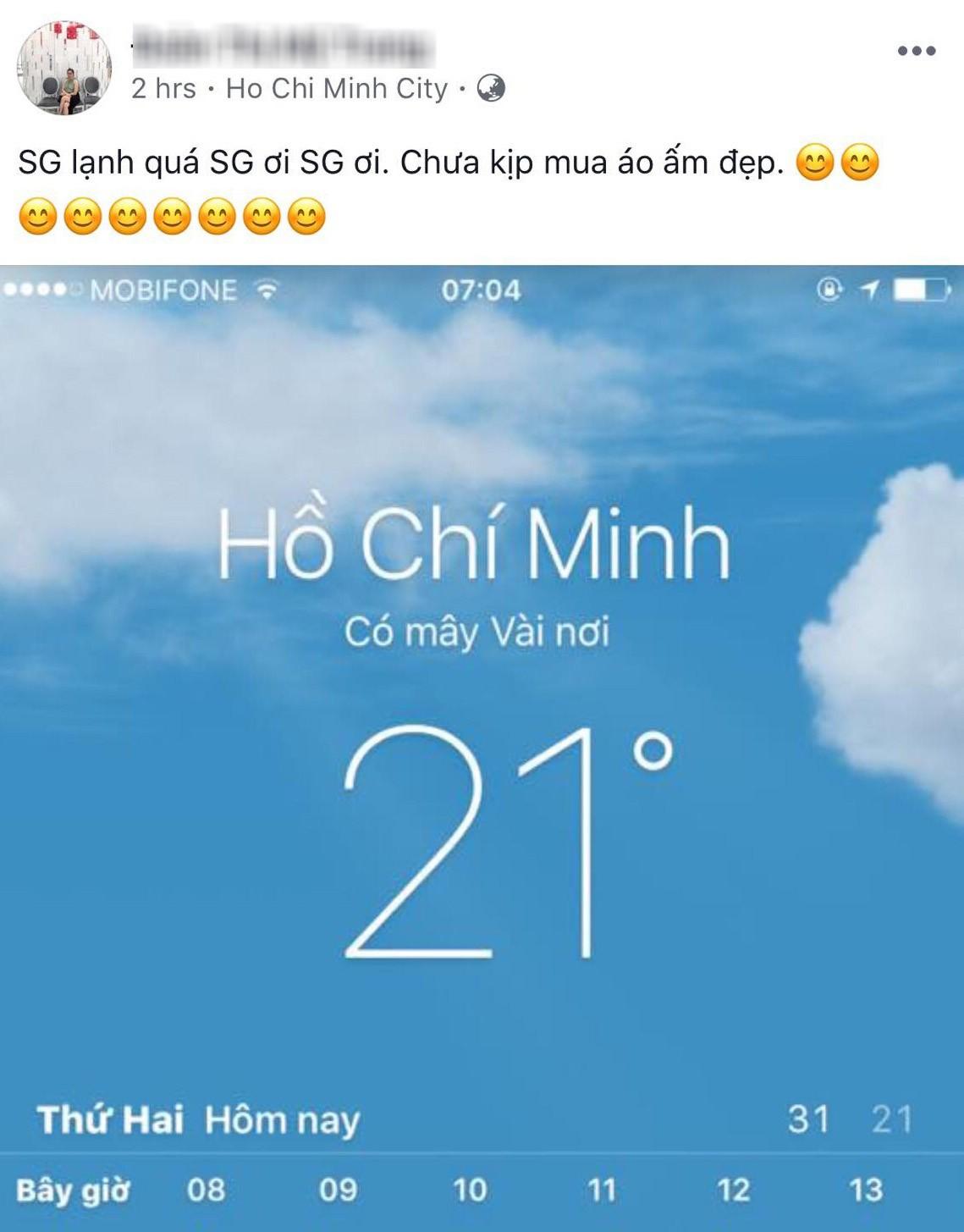 Sáng ngày ra, Facebook rồi Instagram tràn ngập status khoe Sài Gòn trở lạnh! - Ảnh 5.