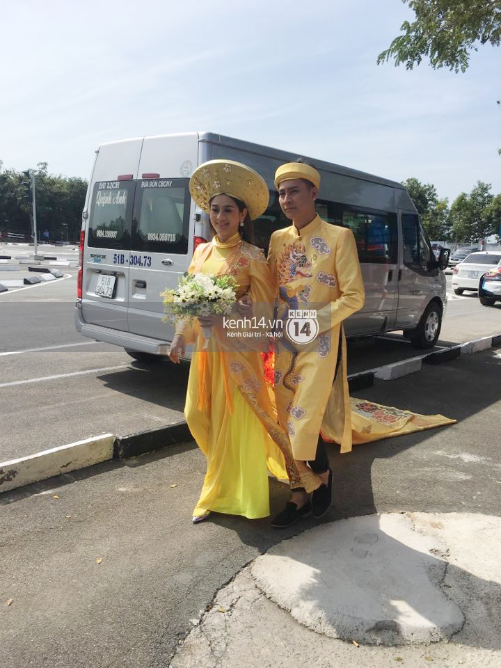 Loạt ảnh cận cảnh cô dâu Lâm Khánh Chi diện áo dài long phụng quét đất về nhà chồng - Ảnh 3.