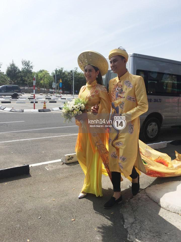 Loạt ảnh cận cảnh cô dâu Lâm Khánh Chi diện áo dài long phụng quét đất về nhà chồng - Ảnh 7.