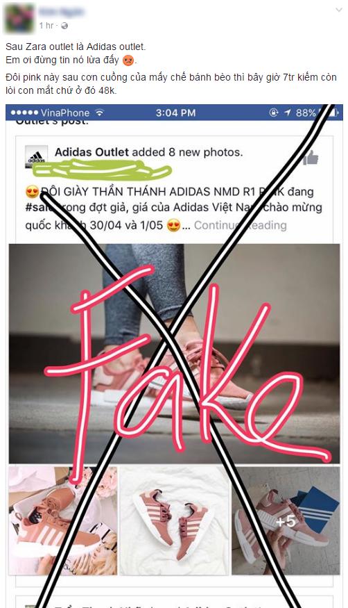 Hết Zara Outlet lừa đảo, lại thêm page giả mạo adidas tung tin mua NMD hồng đang hot với giá 48.000 đồng - Ảnh 3.