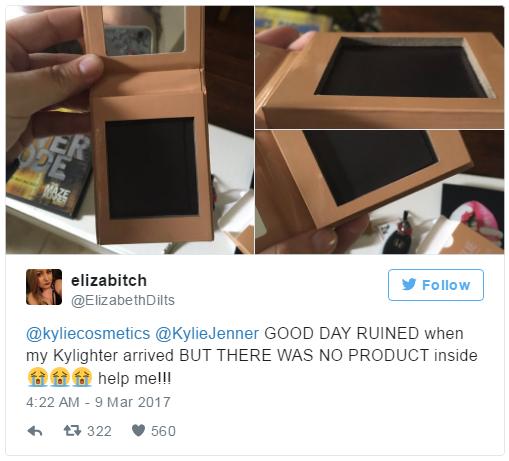 Bỏ 500 ngàn đặt mua phấn highlighter của Kylie, khách hàng tá hỏa vì chỉ nhận được vỏ hộp rỗng - Ảnh 4.