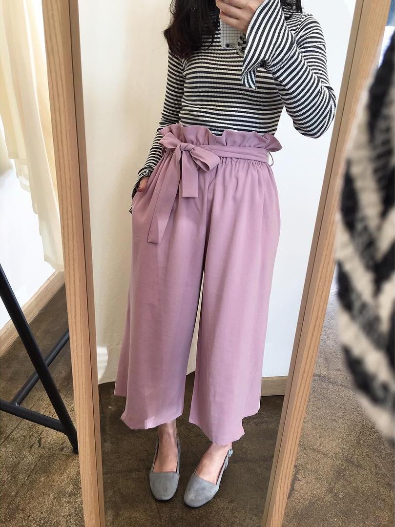 Ngay cả khi không thích quần vải, các cô nàng cũng sẽ đổ đứ đừ trước kiểu quần thắt nơ xinh xắn này - Ảnh 3.