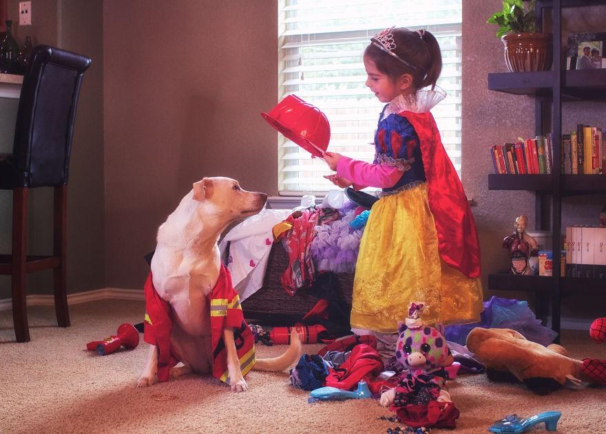 Nhũn tim trước hình ảnh thắm thiết quấn quýt bên nhau của cô chủ nhỏ và chú chó - Ảnh 5.