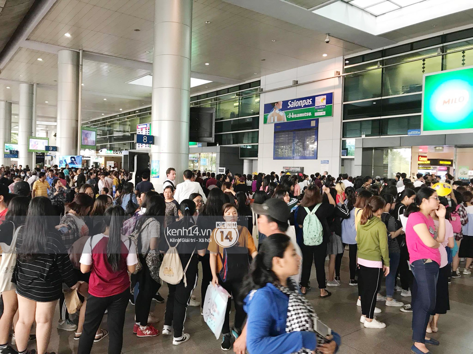 Fan Việt chiếm đóng nửa sân bay Tân Sơn Nhất chỉ để đón chờ WANNA ONE - Ảnh 3.