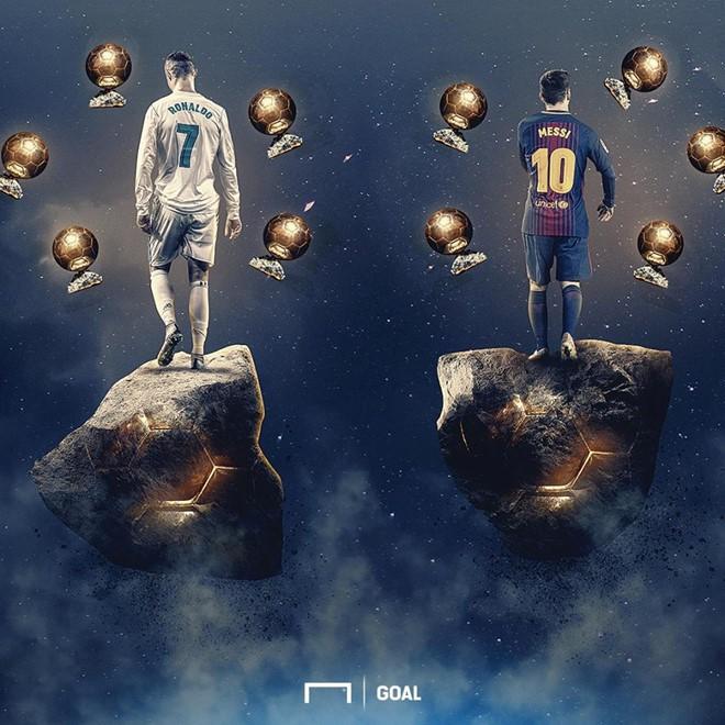 Ảnh chế: Ronaldo một tay bế Quả bóng vàng, một tay ẵm... Messi - Ảnh 8.