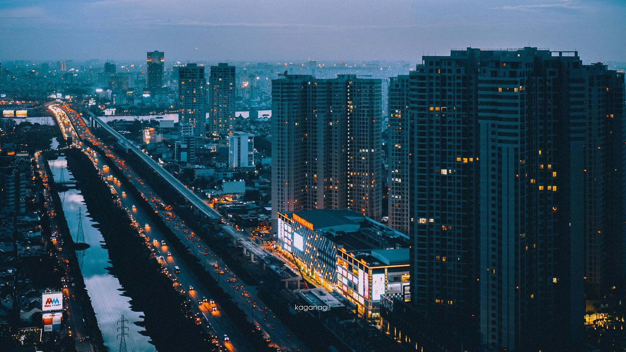 9x với loạt ảnh chụp từ trên cao khiến bạn ngỡ ngàng vì vẻ đẹp choáng ngợp của Sài Gòn - Ảnh 13.