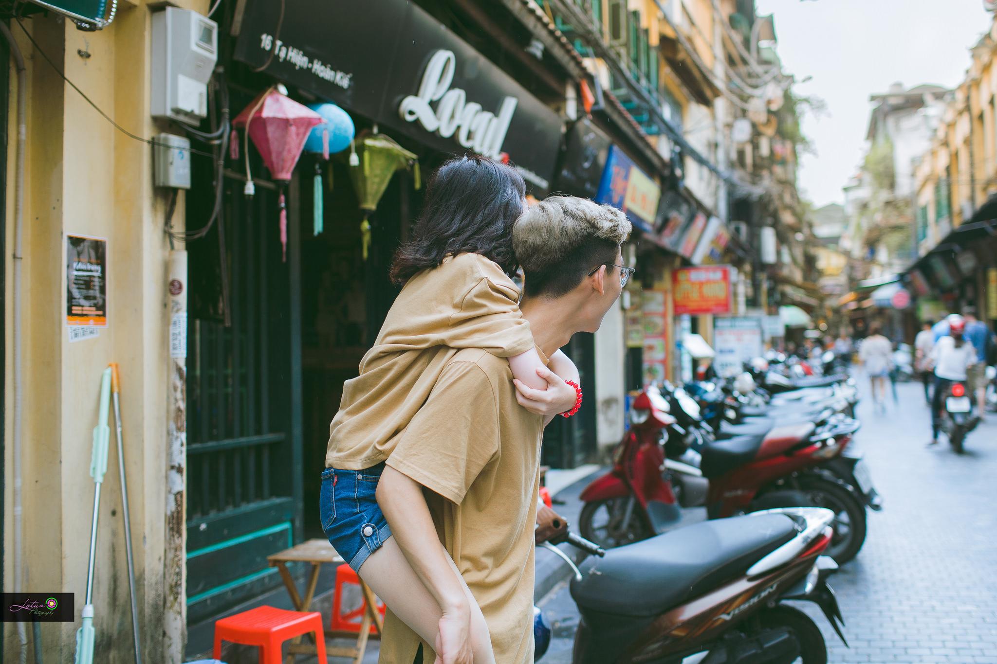 Từ bộ ảnh nàng 1m48 yêu chàng 1m80 gây sốt: Có một chuyện tình cọc đi tìm trâu rất đáng yêu - Ảnh 4.