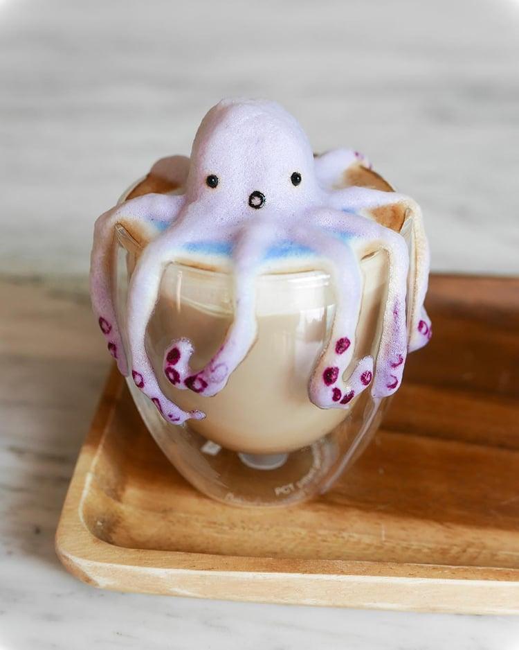 Nghệ thuật đúc tượng hoạt hình 3D làm từ bọt cà phê - Ảnh 9.