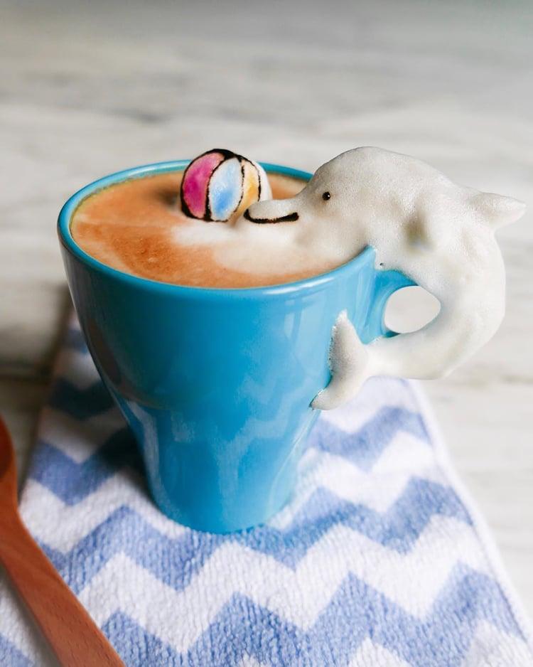 Nghệ thuật đúc tượng hoạt hình 3D làm từ bọt cà phê - Ảnh 7.