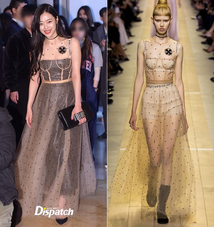 Yoona và Sulli cùng diện đồ hiệu đẳng cấp, đọ sắc vóc một chín một mười tại sự kiện của Dior - Ảnh 2.
