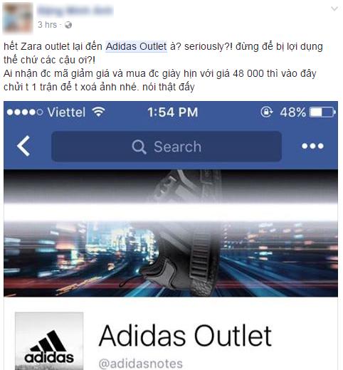 Hết Zara Outlet lừa đảo, lại thêm page giả mạo adidas tung tin mua NMD hồng đang hot với giá 48.000 đồng - Ảnh 4.