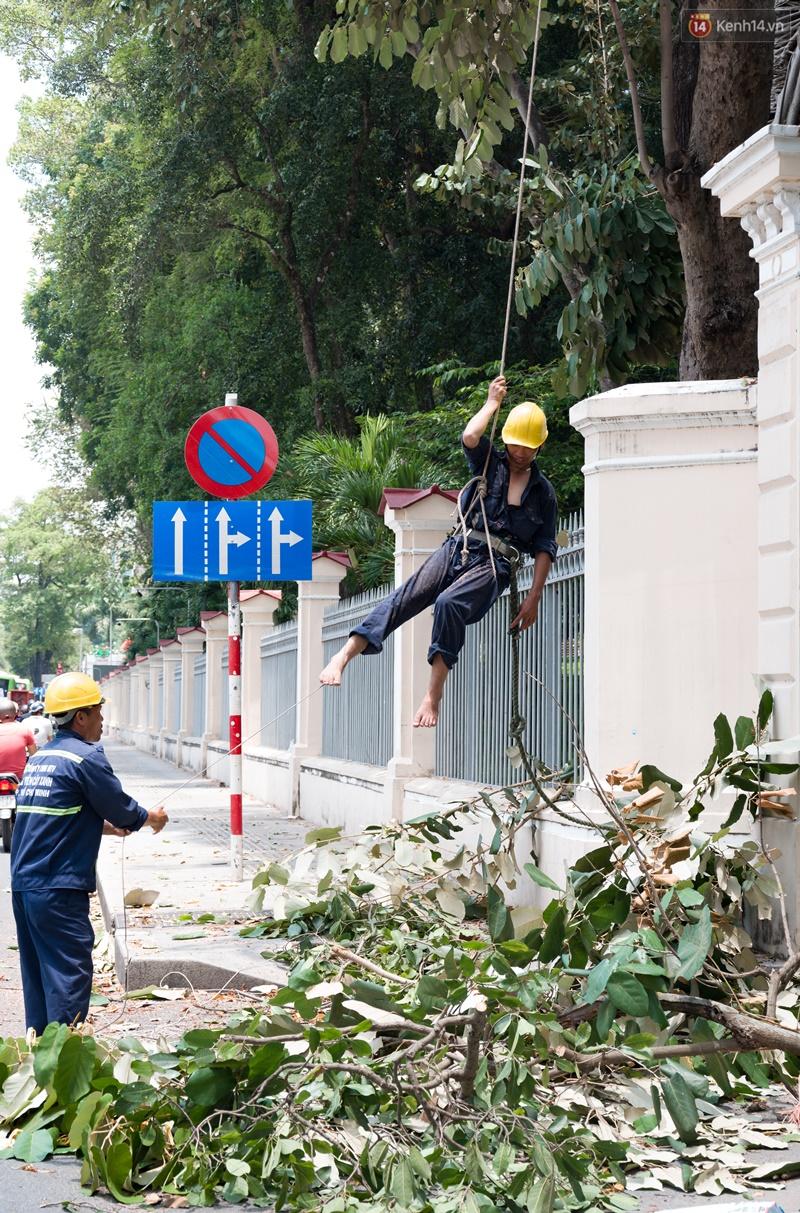 Chùm ảnh: Người dân lao động ở Sài Gòn vật lộn dưới nắng nóng oi bức để mưu sinh - Ảnh 1.