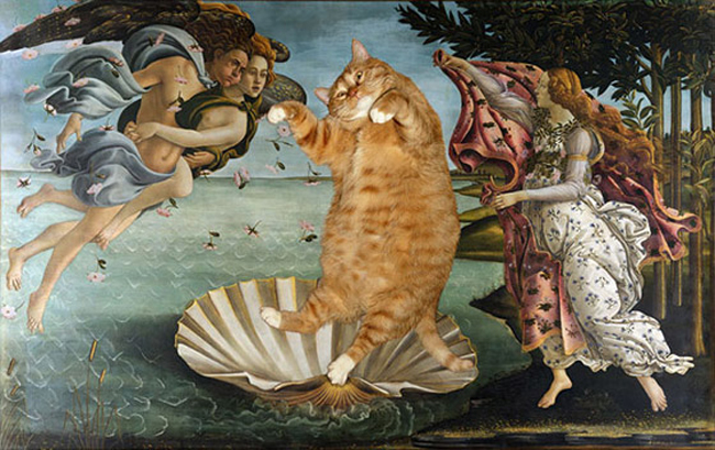 Chùm ảnh chế mèo béo hóa thân thành nàng thơ trong các bức họa nổi tiếng - Ảnh 9.