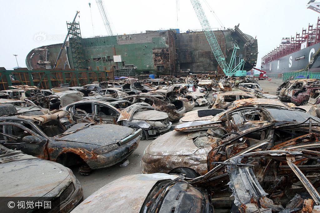 Hình ảnh hơn 100 ô tô biến thành đống sắt gỉ sau 3 năm nằm dưới đáy biển cùng phà Sewol khiến nhiều người rùng mình - Ảnh 4.