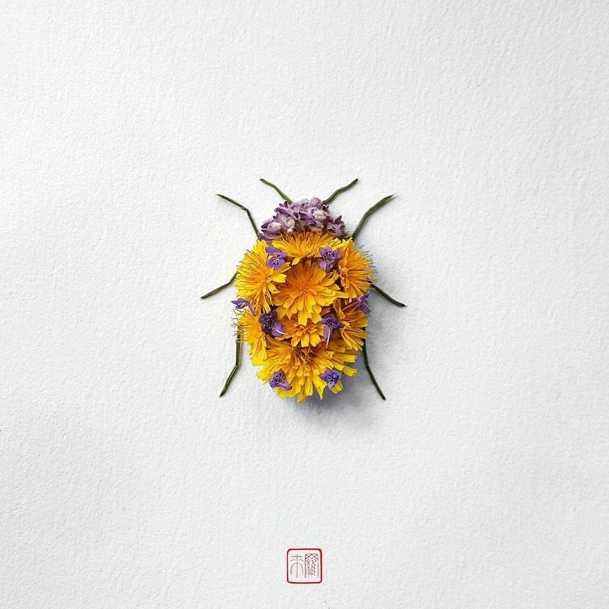 Khoác lên mình lớp áo hoa cỏ rực rỡ, côn trùng bỗng trở nên đẹp và sang hơn bao giờ hết - Ảnh 3.