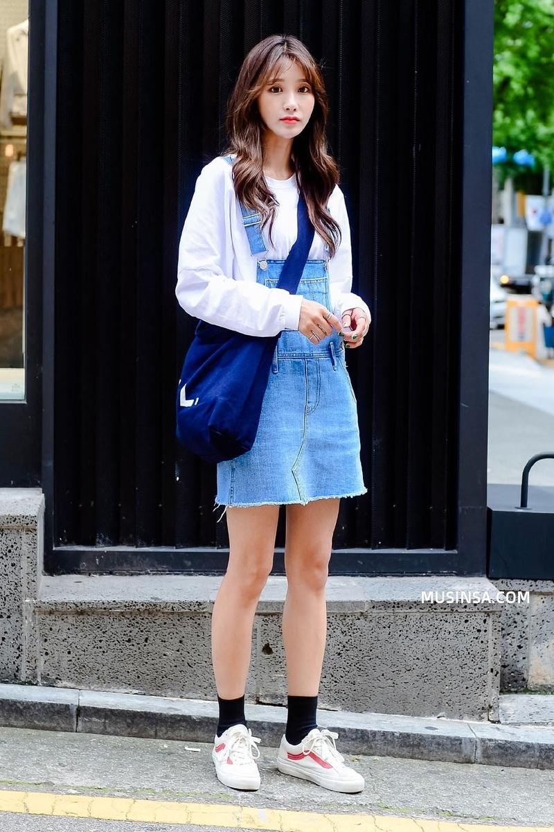 Cùng trưng dụng quần shorts nhưng giới trẻ Hàn lại có cả tá cách mix, cách nào cũng hút mắt thôi rồi! - Ảnh 10.