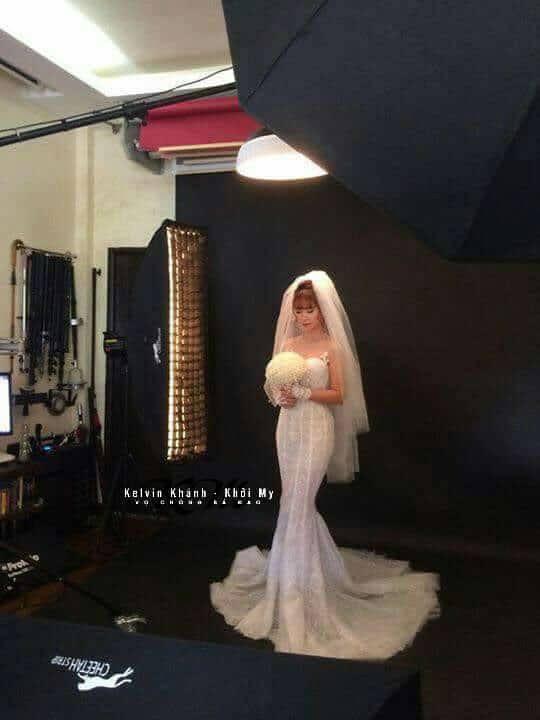 HOT: Khởi My e ấp, Kelvin Khánh để tóc dài lãng tử trong hậu trường chụp ảnh cưới - Ảnh 3.