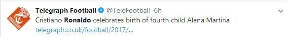 Cộng đồng mạng chúc mừng Ronaldo đón con thứ tư - Ảnh 5.