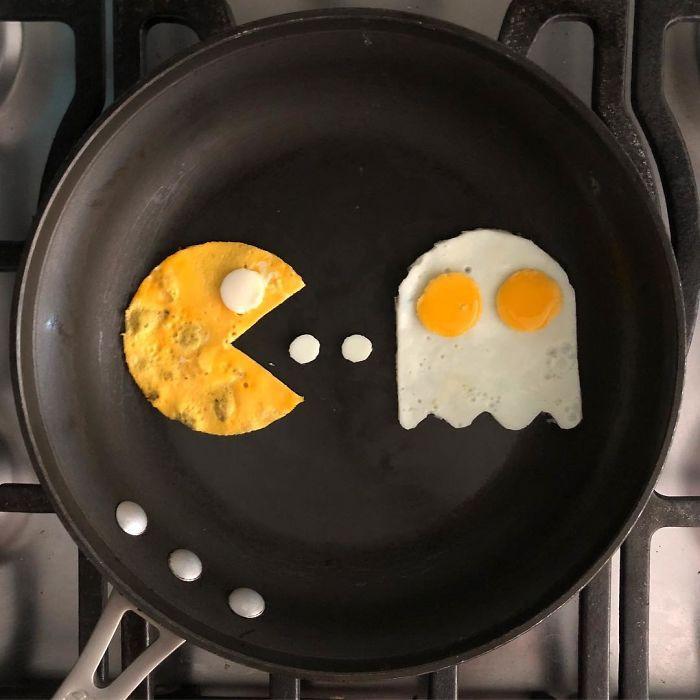 Anh chàng ốp la trứng không theo cách bình thường, cuối cùng lại làm ra những bức tranh nghệ thuật - Ảnh 7.