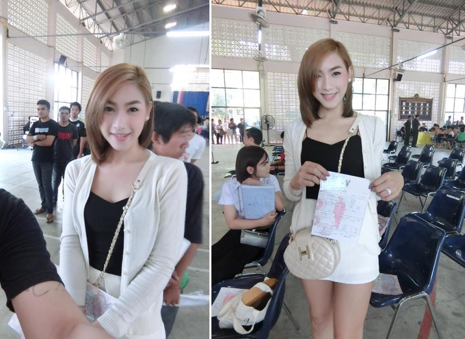 Vẻ đẹp khó cưỡng của những bóng hồng chuyển giới trong đợt tuyển nghĩa vụ quân sự Thái Lan - Ảnh 12.
