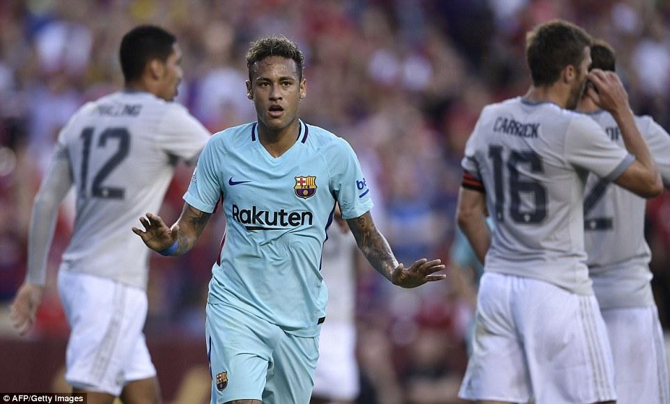 Neymar ghi bàn khiến Man Utd nhận thất bại đầu tiên ở Mỹ - Ảnh 3.