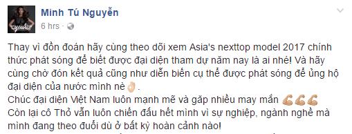 Fan quốc tế và Việt Nam tranh luận dữ dội trước tin đồn Minh Tú là Á quân của Next Top Châu Á - Ảnh 3.