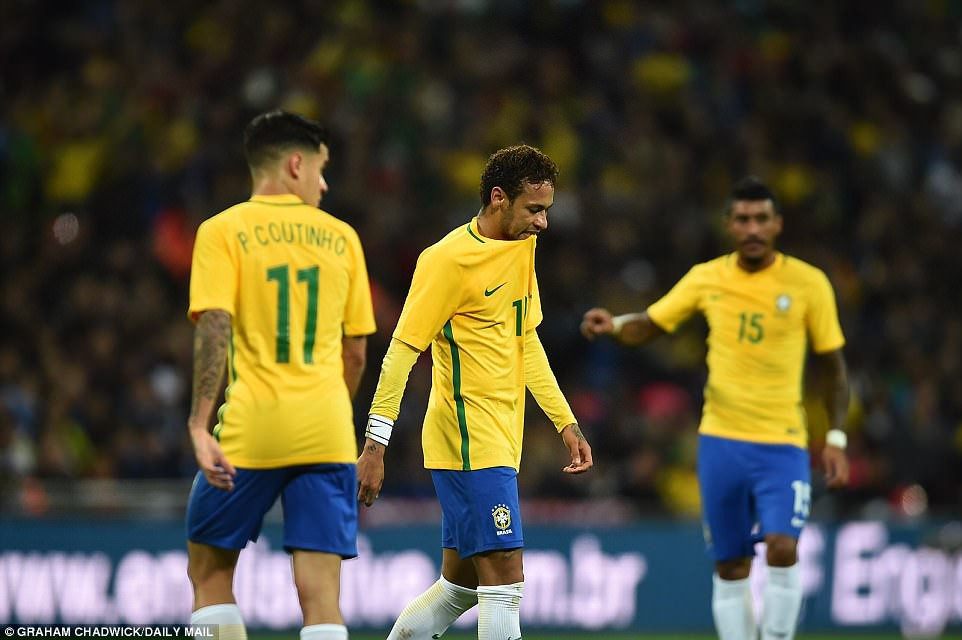 Neymar bất lực, Brazil hòa không bàn thắng với Anh trên sân Wembley - Ảnh 3.
