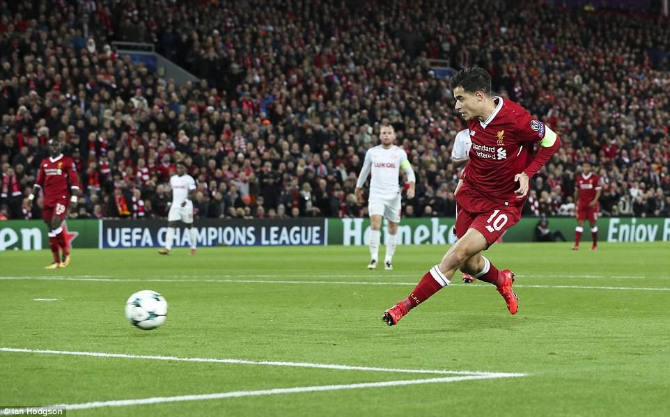 Liverpool thắng đậm 7-0, thẳng tiến vòng knock-out Champions League - Ảnh 4.
