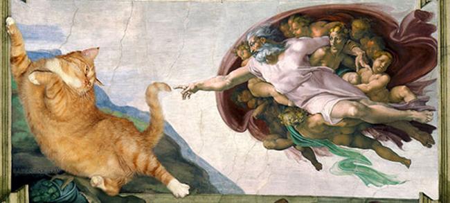 Chùm ảnh chế mèo béo hóa thân thành nàng thơ trong các bức họa nổi tiếng - Ảnh 11.
