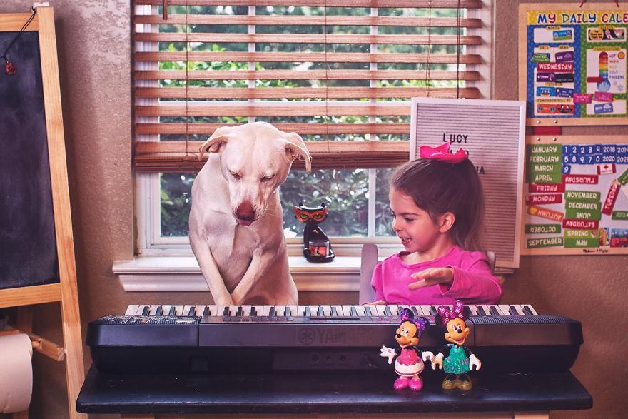 Nhũn tim trước hình ảnh thắm thiết quấn quýt bên nhau của cô chủ nhỏ và chú chó - Ảnh 11.