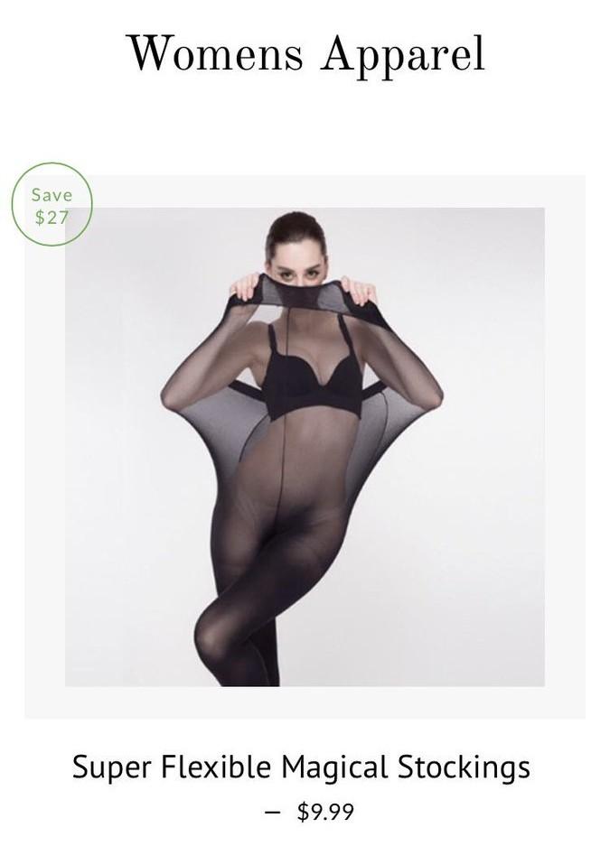 Quảng cáo quần tất dành cho người quá khổ bằng hình ảnh mẫu gầy chui vào sản phẩm, trang web mua sắm bị ném đá kịch liệt - Ảnh 5.