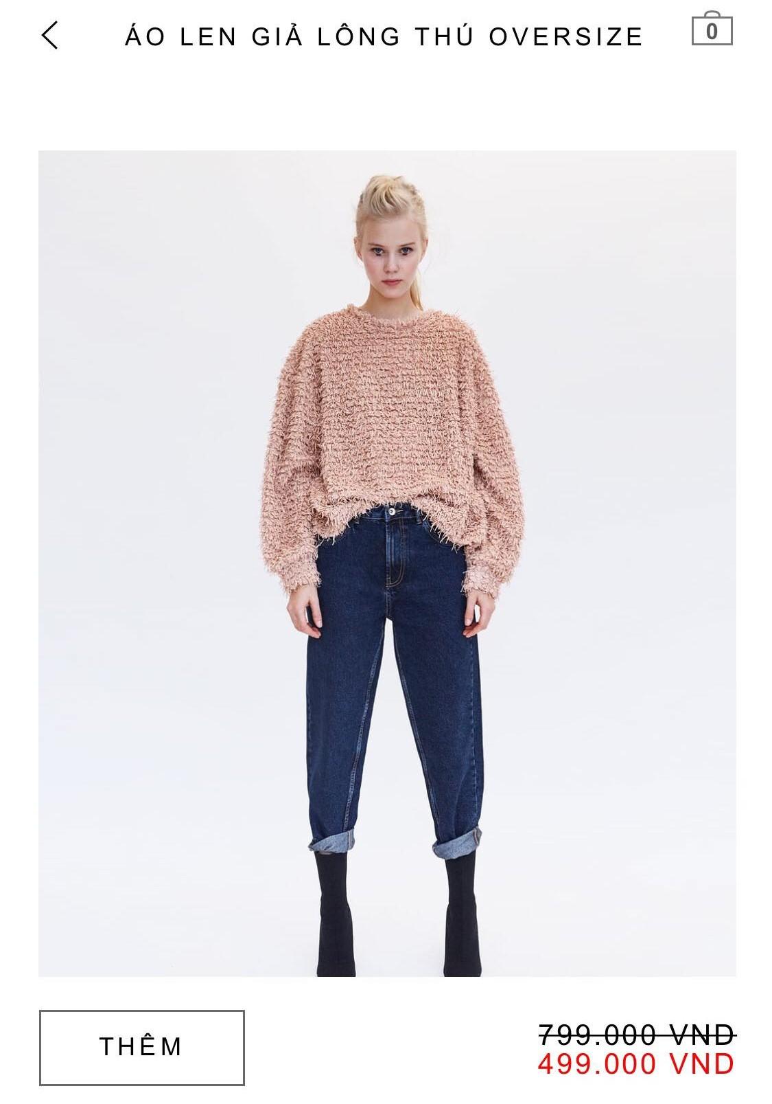 14 mẫu áo len, áo nỉ dưới 500.000 VNĐ xinh xắn, trendy đáng sắm nhất đợt sale này của Zara - Ảnh 2.