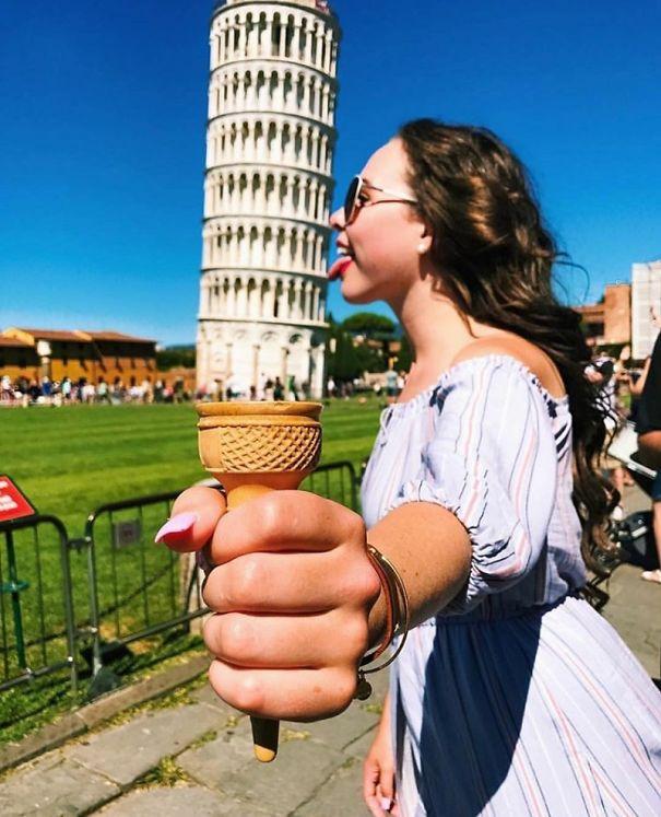 16 kiểu chụp ảnh sống ảo sáng tạo với tháp nghiêng Pisa - Ảnh 11.