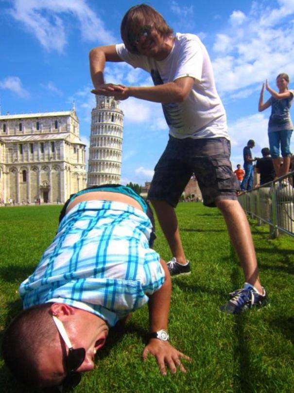 16 kiểu chụp ảnh sống ảo sáng tạo với tháp nghiêng Pisa - Ảnh 19.