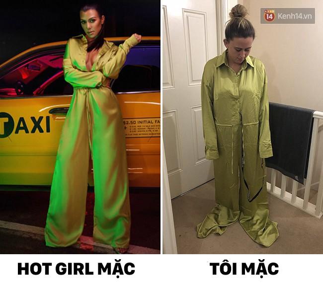 14 mốt thời trang đối nghịch khi hot girl mặc và khi mình mặc - Ảnh 5.