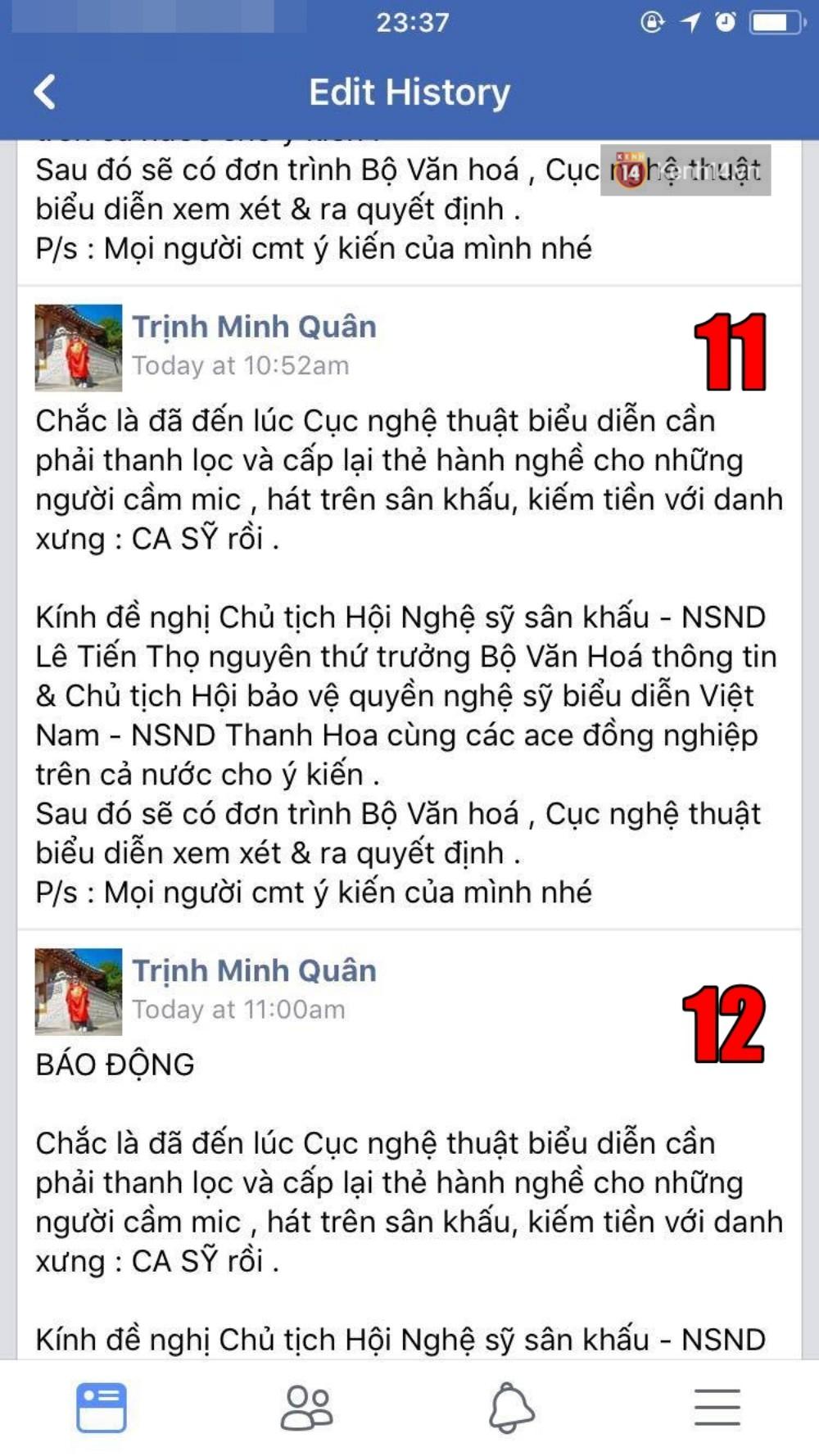 Người ta uốn lưỡi 7 lần trước khi nói, còn Minh Quân sửa hẳn MƯỜI TÁM lần khi đăng status dài 3 dòng đá xéo Chipu - Ảnh 7.
