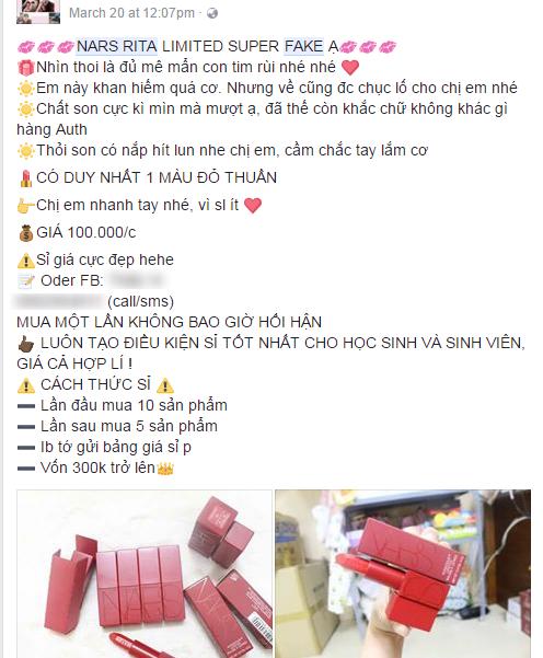 Cảnh báo: Son Nars vỏ đỏ đình đám đã có hàng fake, xuất hiện nhiều như lợn con trên Facebook - Ảnh 7.