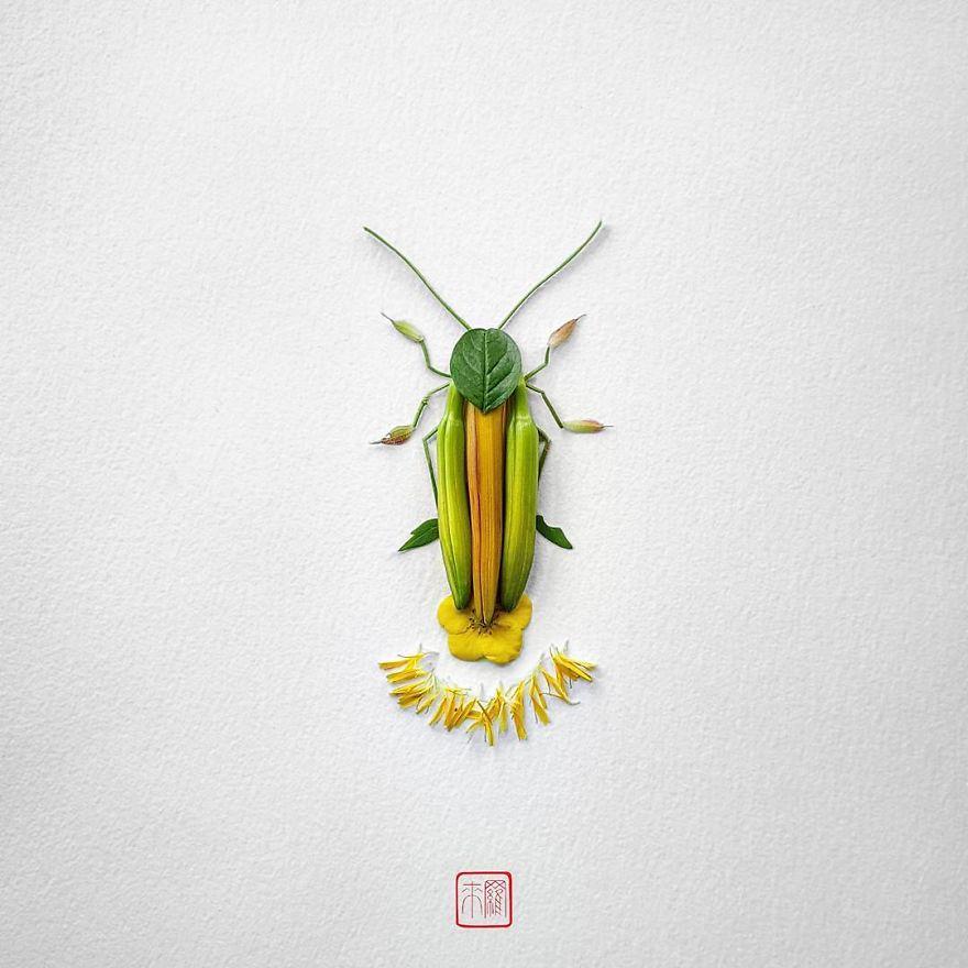 Khoác lên mình lớp áo hoa cỏ rực rỡ, côn trùng bỗng trở nên đẹp và sang hơn bao giờ hết - Ảnh 6.