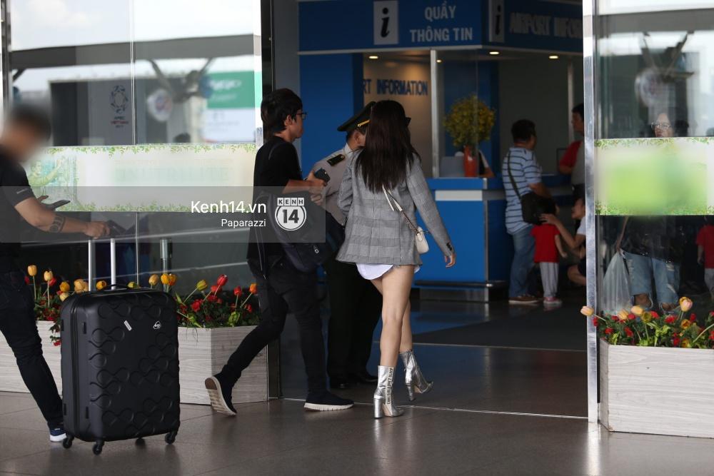 Chi Pu diện trang phục sành điệu, xuất hiện tươi tắn ở sân bay để sang Mỹ dự sự kiện - Ảnh 7.