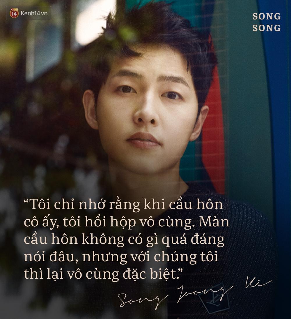 Xem cách Song Joong Ki và Song Hye Kyo tỏ tình mới thấy: Một khi đã yêu, mọi lời nói đều có thể ngôn tình hóa - Ảnh 1.