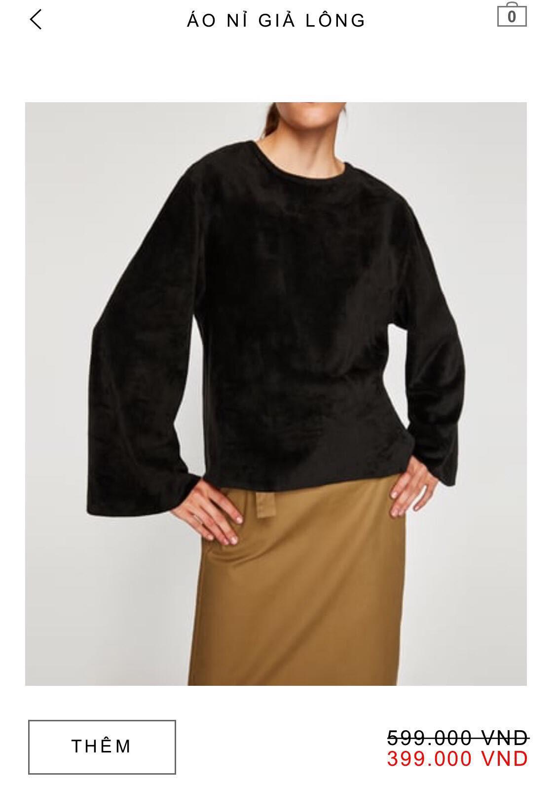 14 mẫu áo len, áo nỉ dưới 500.000 VNĐ xinh xắn, trendy đáng sắm nhất đợt sale này của Zara - Ảnh 13.