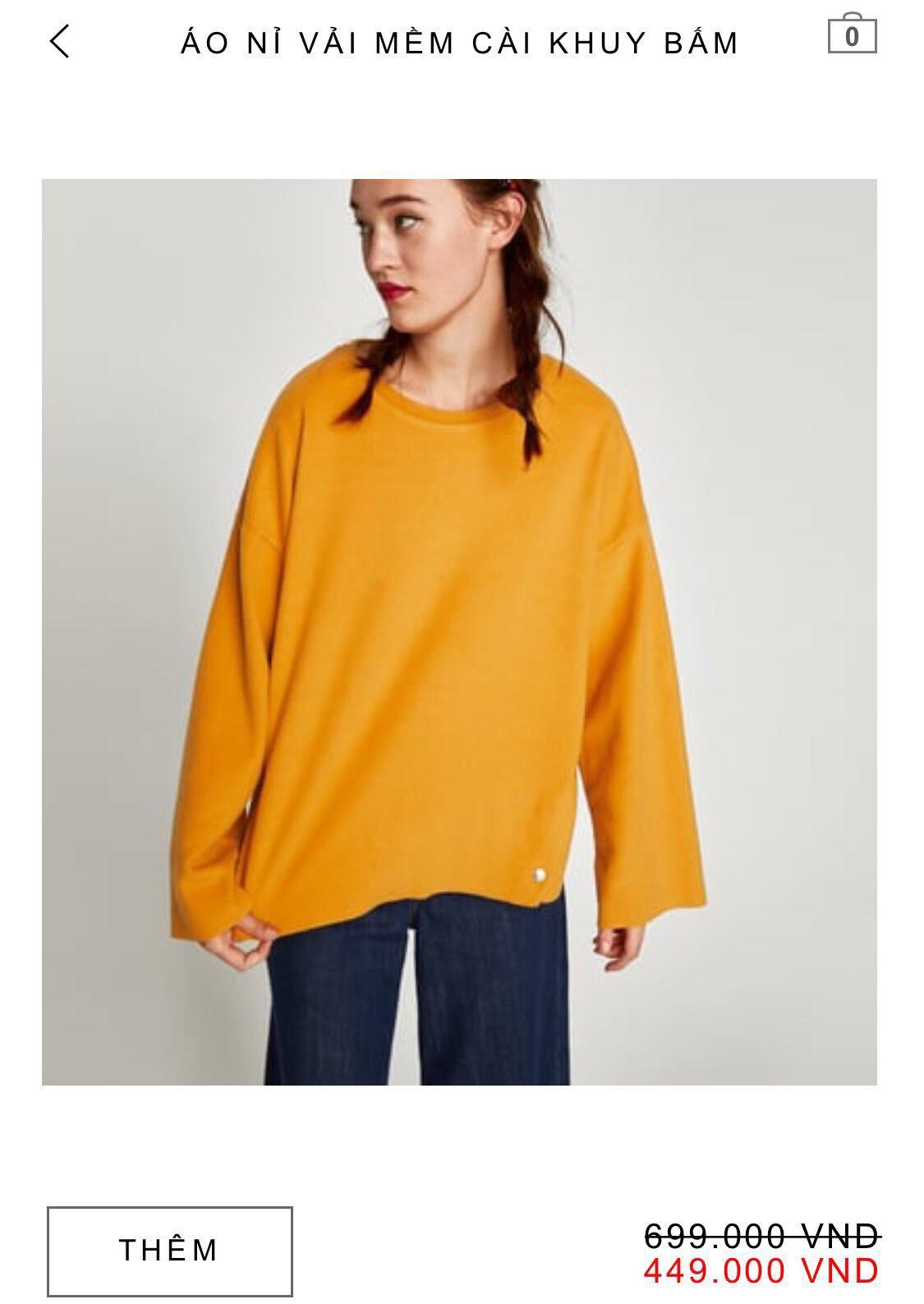 14 mẫu áo len, áo nỉ dưới 500.000 VNĐ xinh xắn, trendy đáng sắm nhất đợt sale này của Zara - Ảnh 7.