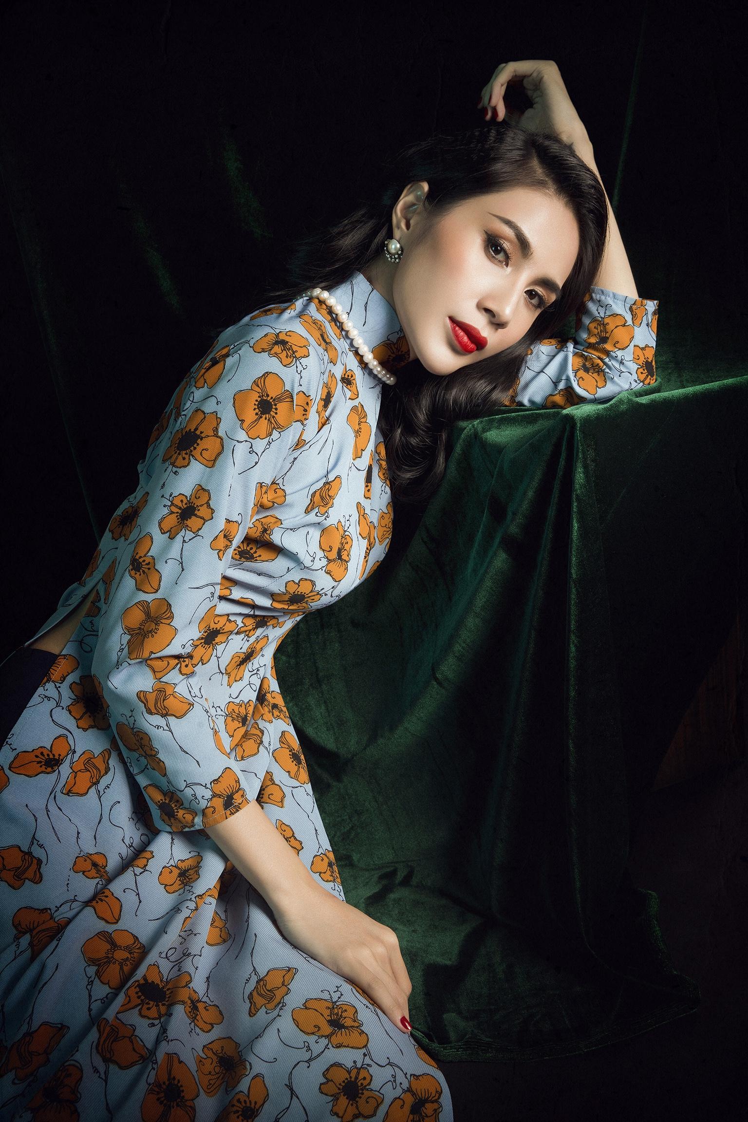 Thuỷ Tiên tái hiện hình tượng quý cô Đông Dương đầy mê hoặc trong bộ ảnh quảng bá album Bolero