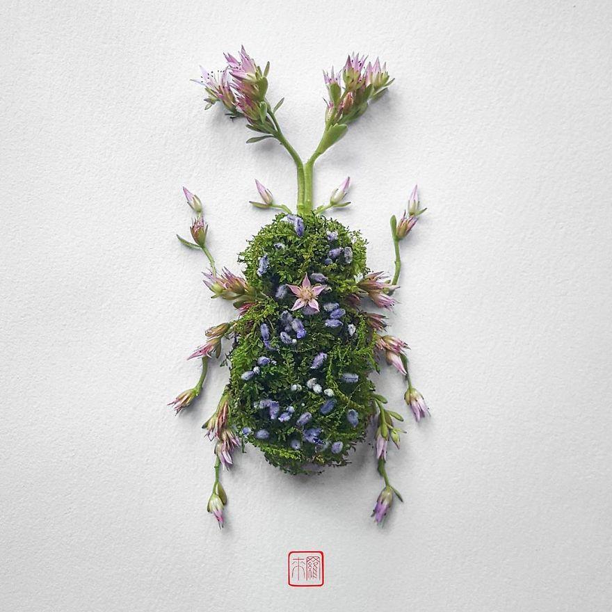Khoác lên mình lớp áo hoa cỏ rực rỡ, côn trùng bỗng trở nên đẹp và sang hơn bao giờ hết - Ảnh 8.