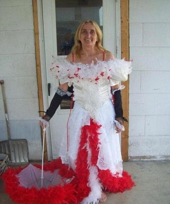 17 cô dâu hóa tuồng chèo khi khoác lên mình những thảm họa váy cưới - Ảnh 33.